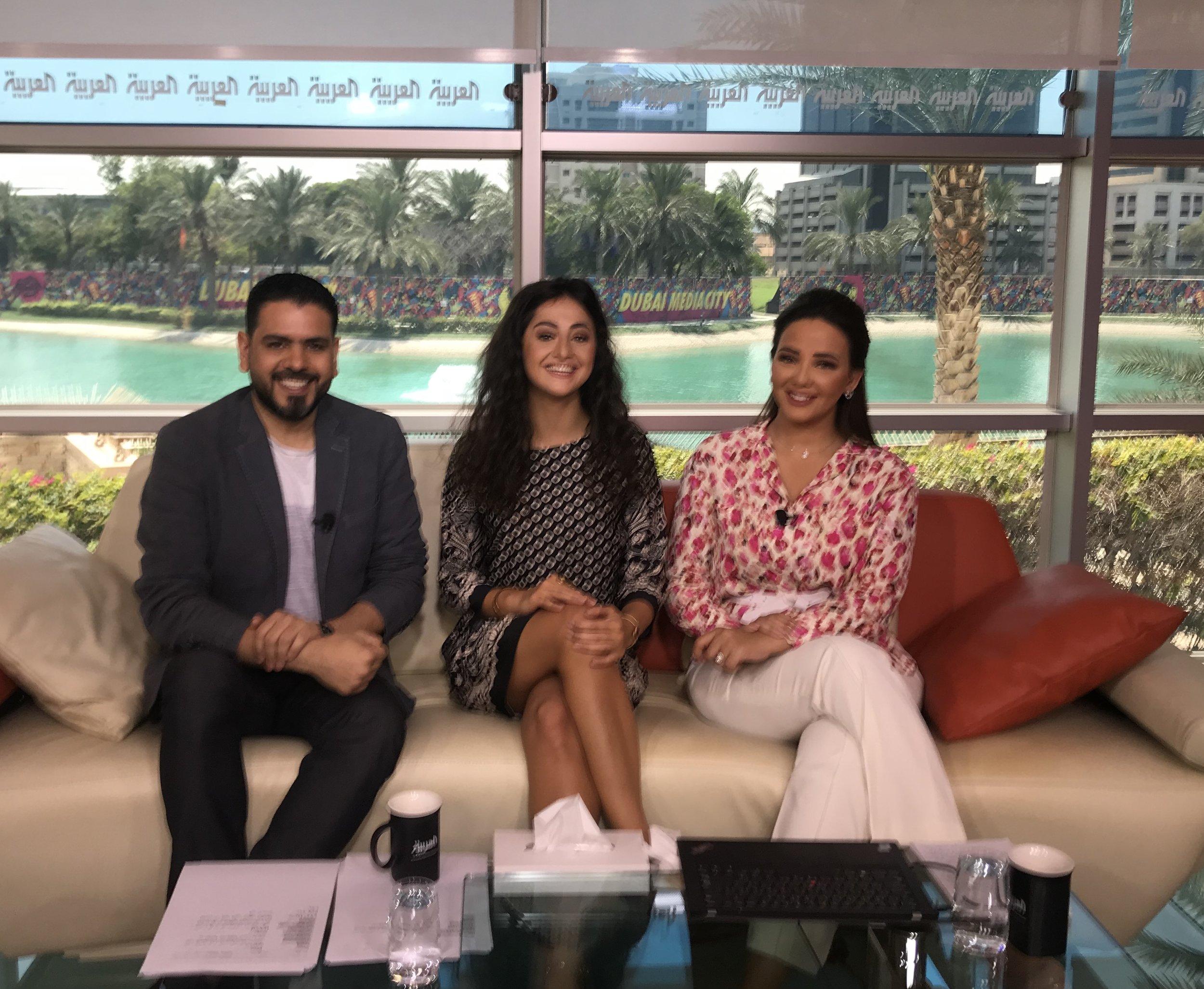 A Short interview with Syiran artist Noor bahjat at Sabah al arabiya - 2019-Clip