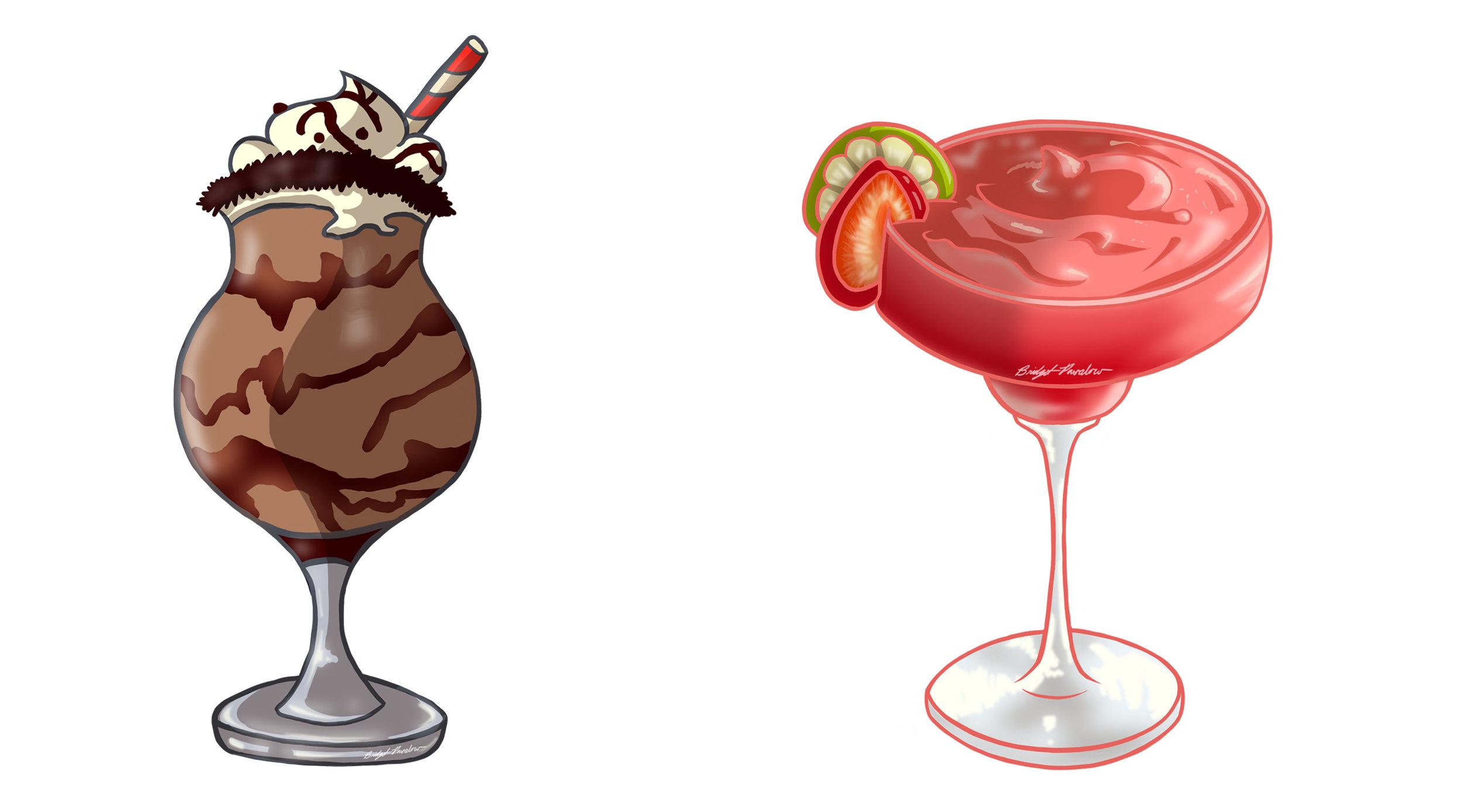 Drink illustrations.