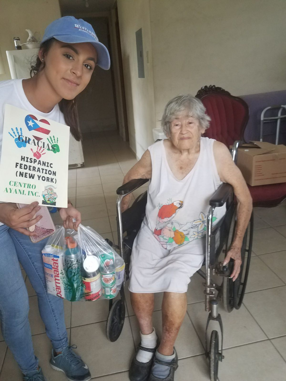 Food distribution in four senior homes