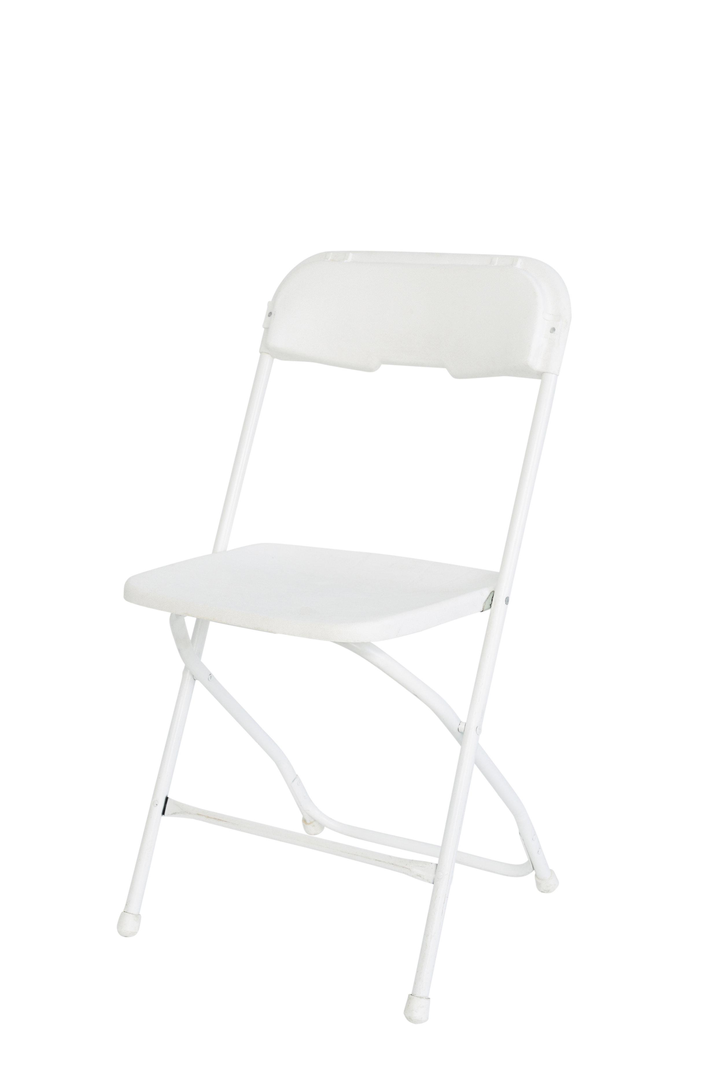 White folding chairs qty. 45