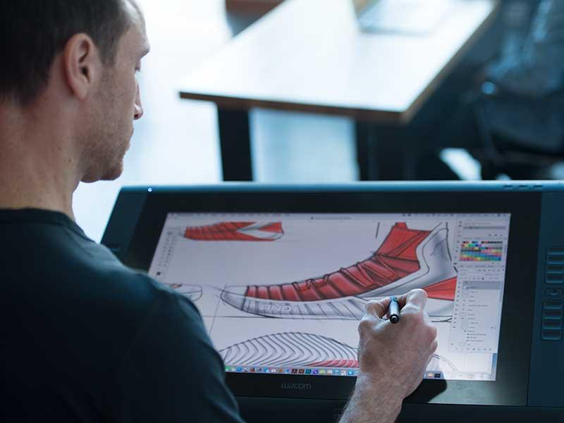 freelance footwear designers sketching