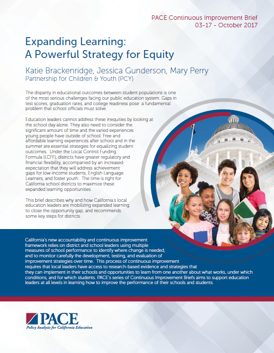 Expanding Learning: A Powerful Strategy for Equity - This brief describes how free and affordable learning experiences after school and in the summer support SEL, develop our education workforce, and are essential strategies for closing the opportunity gap, with specific ideas for districts to take the next step.