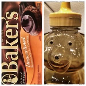 honey and chocolate