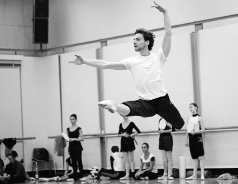 """Boris Richir in repetitie voor het ballet """"La Bayadere"""""""