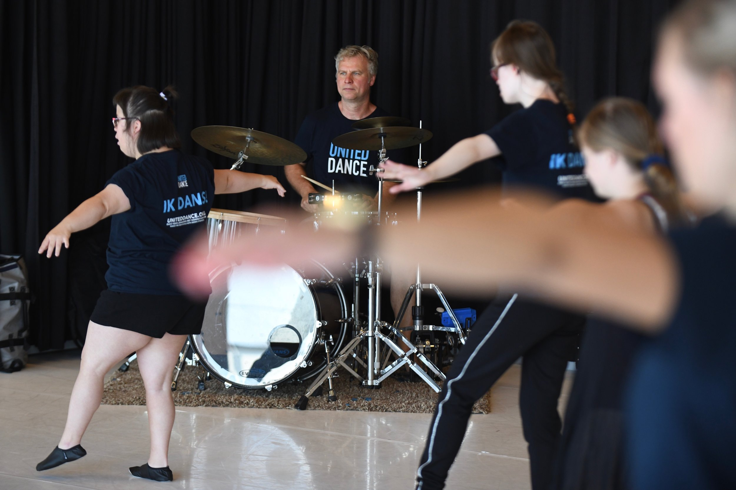 Musician Koen Lieckens playing at the United Dance Summer Course Antwerp 2018