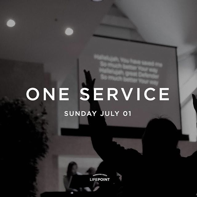 Just a reminder for ONE Service! • Don't forget we don't have 9:30am service tomorrow! We'll be gathering together at 11:30am to worship our Lord as one ☝🏼 see you there!