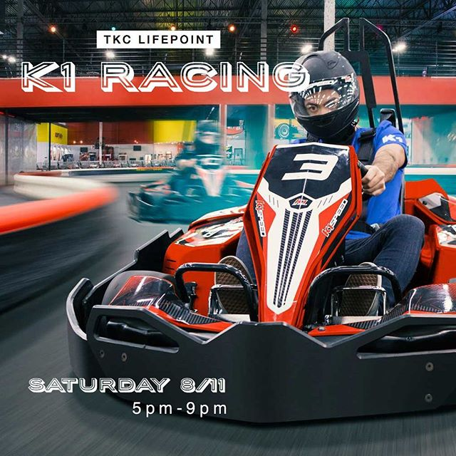 Hey Lifepoint, Brothers! We hope you're gearing up for the big race tomorrow! Don't forget to confirm your RSVP on your emails if you have not yet! • $24 will provide you with 2 races (14 laps per race) Following payment options available: 1. Pay $24 cash when you arrive (see Won Park/Chad Carrillo) 2. Pay ahead or on the day via Venmo (@lifepoint) 3. Pay via credit card through PayPal reader when you arrive (see Won/ParkChad Carrillo) •  K1 Speed (location is tagged) - August 11, 2018 5PM-9PM