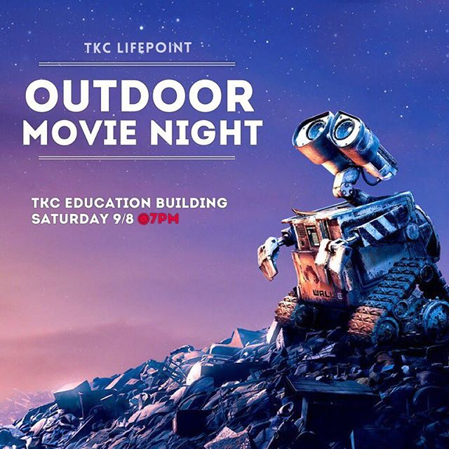 It's Movie Night! 🎥🍿 • Join us this Saturday for a fun movie night featuring Disney Pixar's Wall-E There will be a bouncy house and craft table for the kids so bring your dinner (feel free to bring extra to share) & a comfy chair/blankets as we turn the Education Parking Lot into LIFEPOINT's very own Outdoor Movie Theater, courtesy of @3sixtyent • BRING YOUR OWN: - dinner (popcorn, funnel cake and more will be provided!) - chairs/blankets