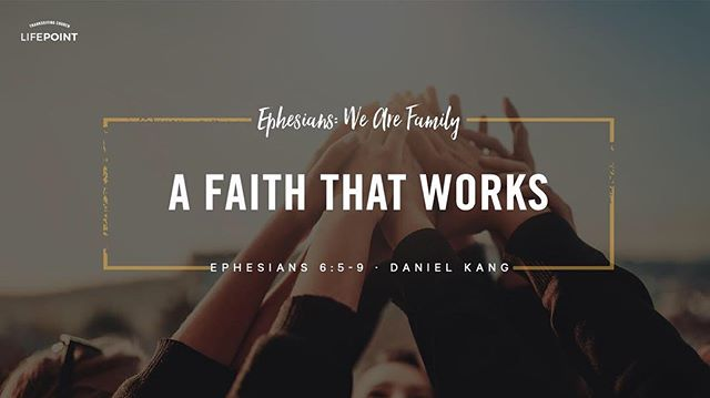 This past Sunday we continued our sermon series on Ephesians by diving deeper into the relationship between Masters and Servants in context of scripture. We discover more about the differences and similarities of our work culture between then and today. The sermon 'A Faith that Works' is up now and is also available on iTunes Podcast and PlayerFM!