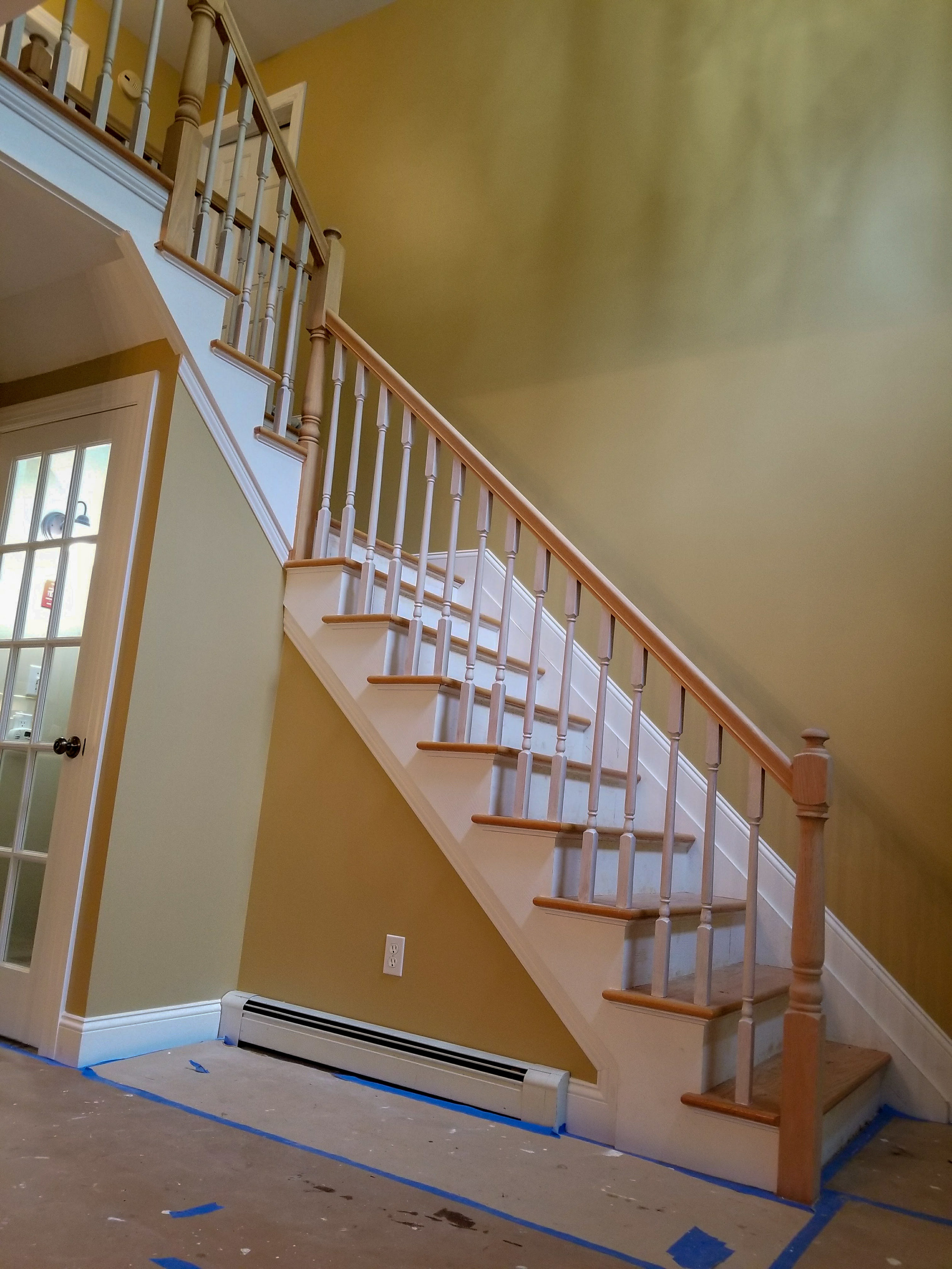 Staircase Stain Before