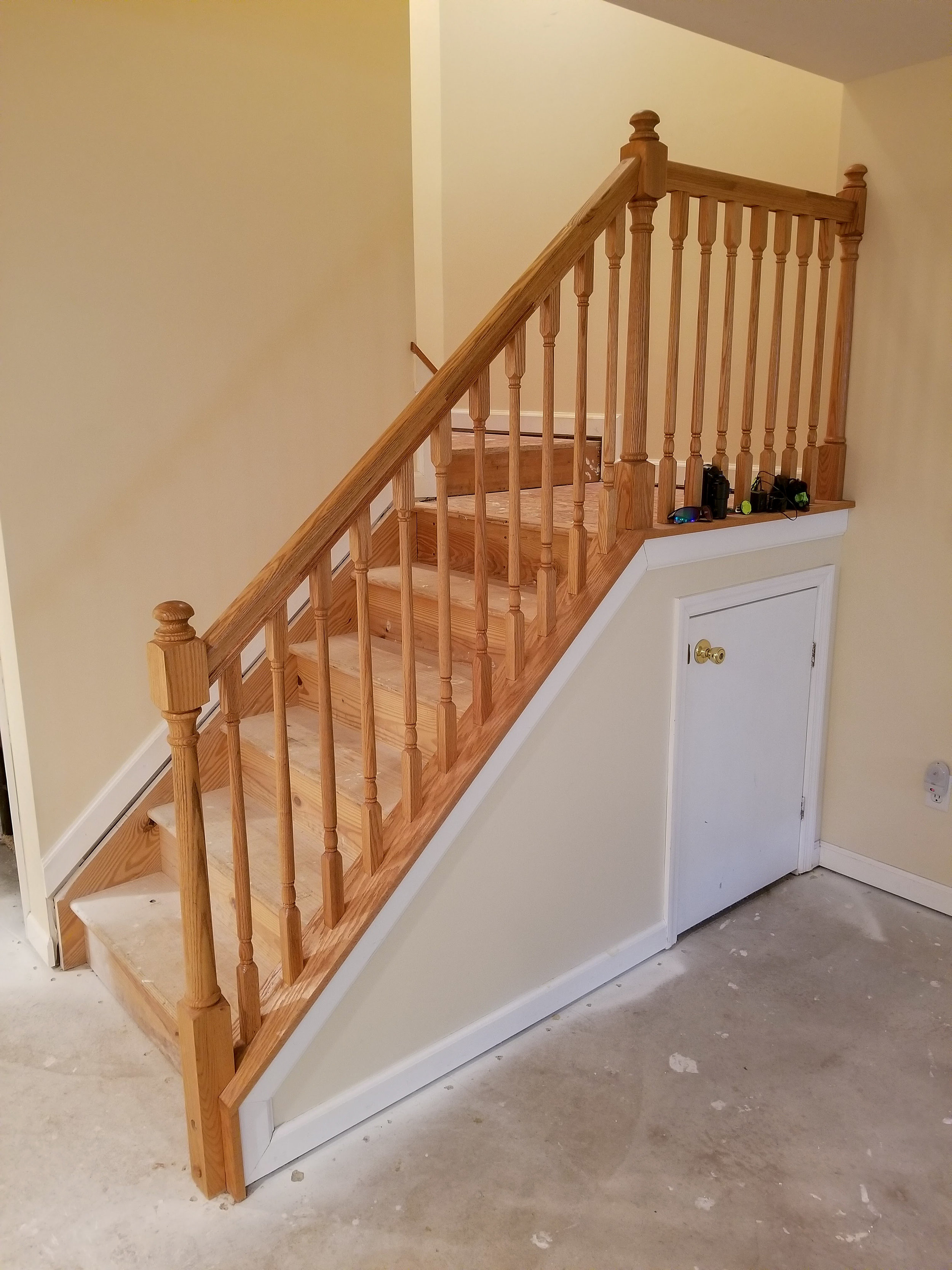 Staircase Refinish Before