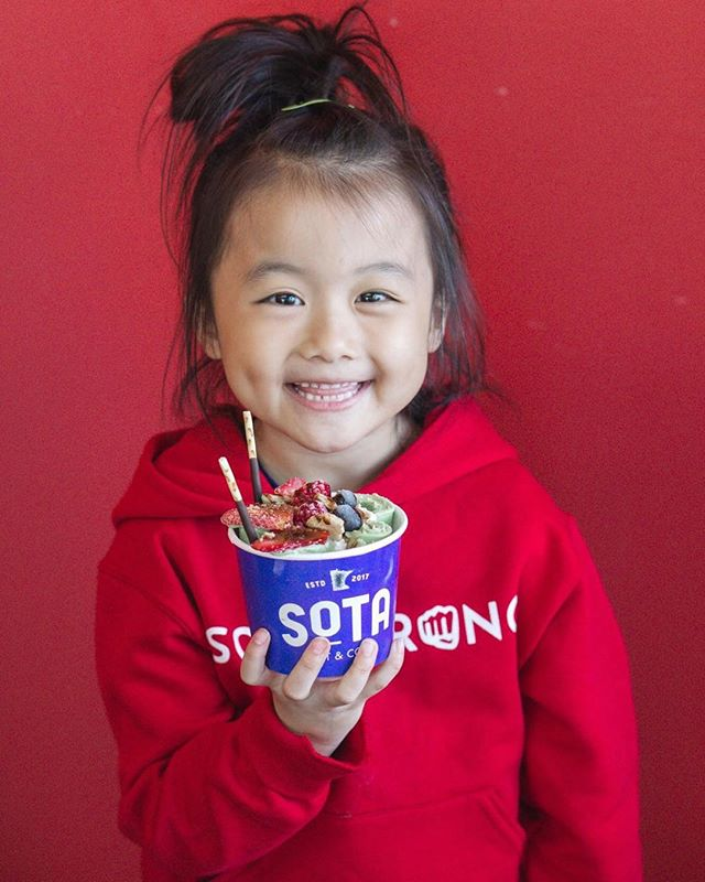 Start your weekend off right with some ice cream! - Tag your friends and family for a chance at free ice cream! - Open today 12PM - 10PM! - #sotahotandcold club is live!