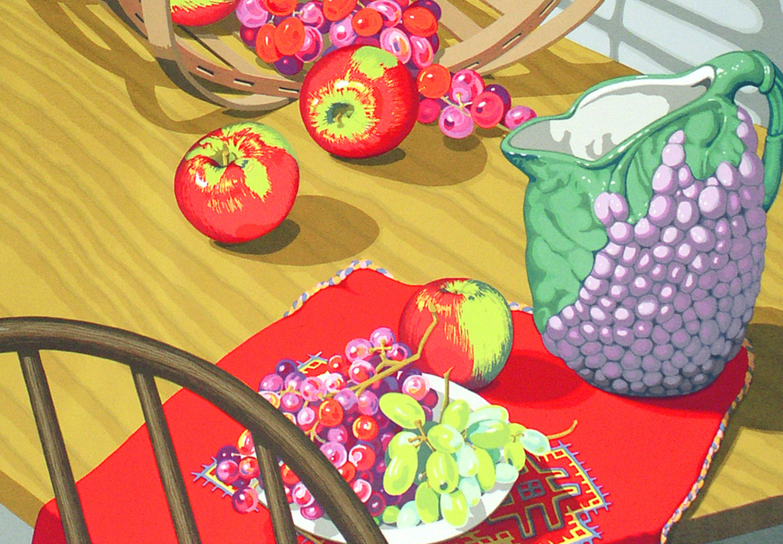 "Sondra Freckelton,     Keeping Autumn    (detail) , 1991, 19-color screenprint,sh: 41""x 28.5"", ed: 42. $1800."