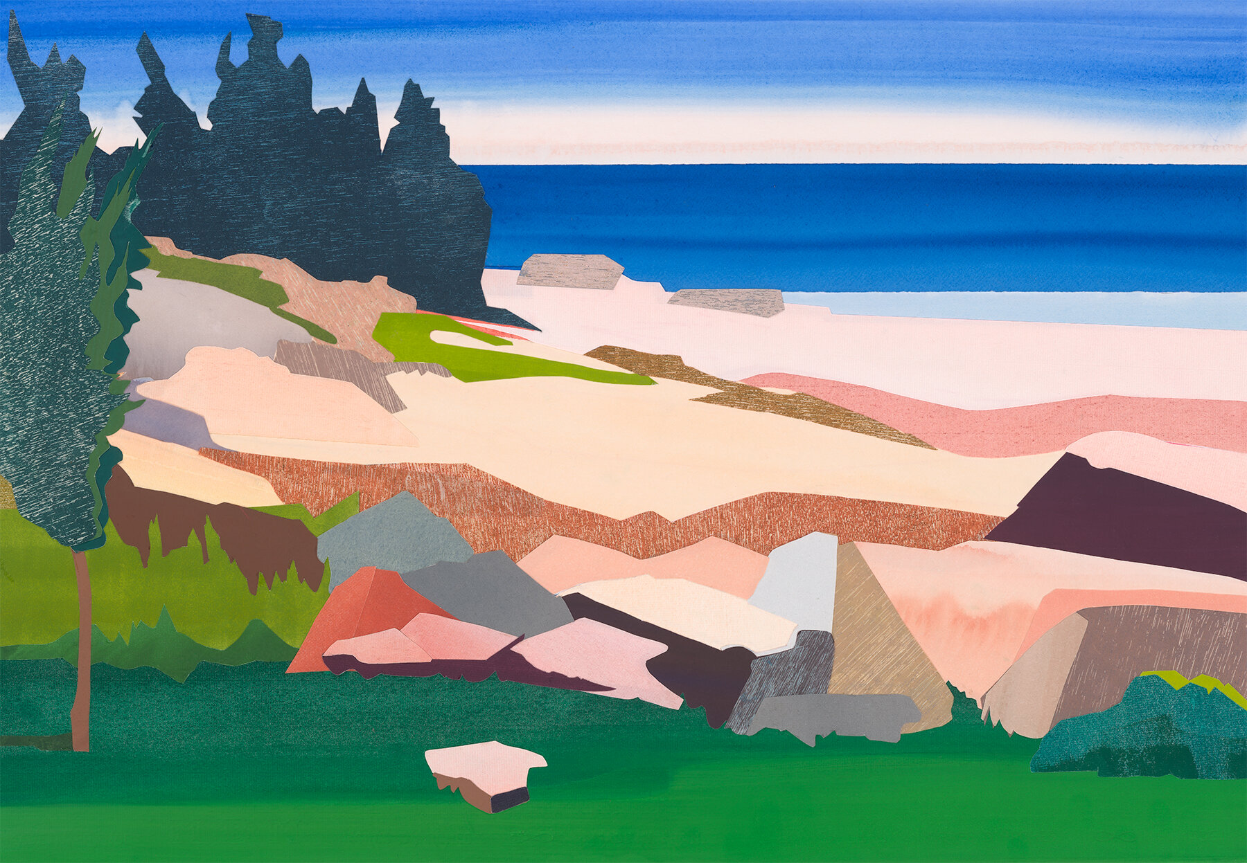 "Mary Prince,   Schoodic Point  , 2019, archival pigment print, 22"" x 30"", ed: 25, $2000."