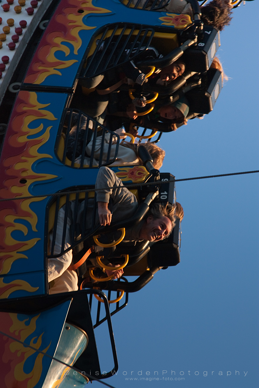 Fair goers enjoy the ride