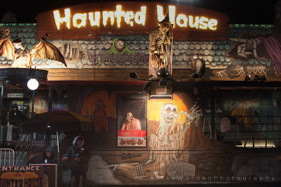 What's a fair without a haunted house?