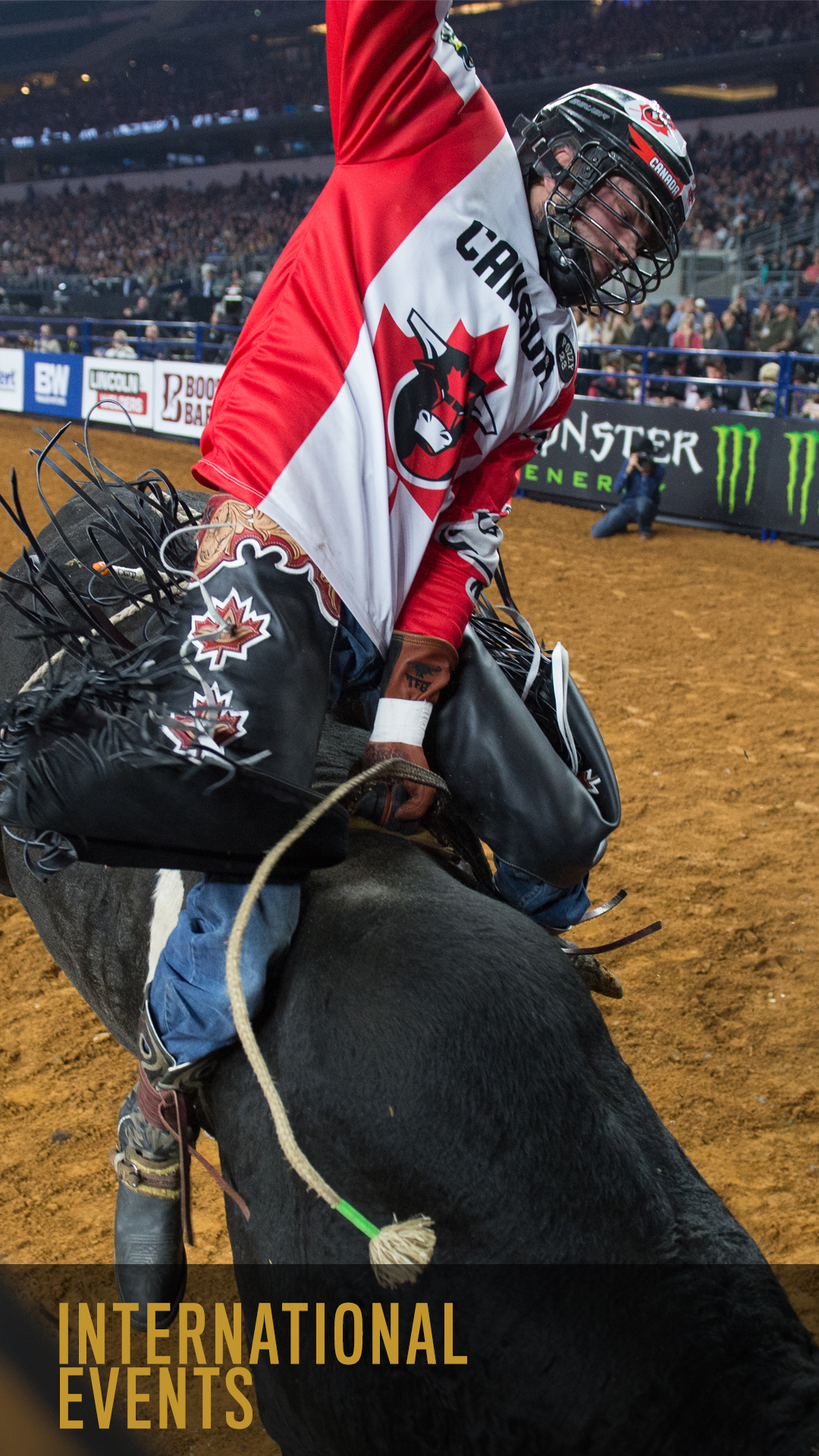 Exclusive streaming home of PBR Global Cup featuring Team Canada and International Tour events from PBR Australia, and PBR Brazil.