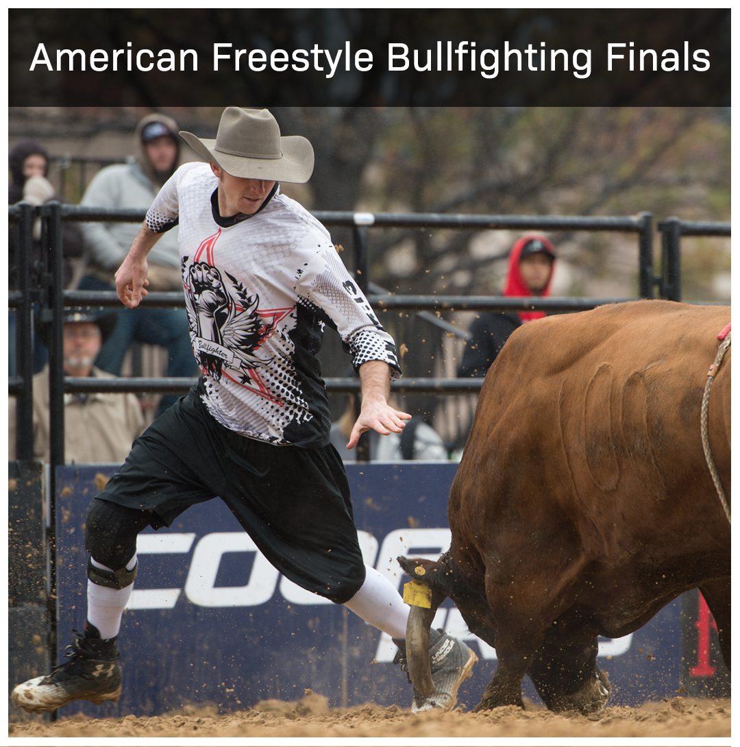 It's Man vs. Beast!    Watch Shorty Gorham's American Freestyle Bullfighting Finals LIVE.