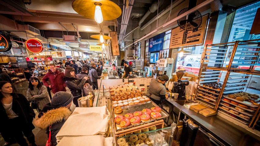 Dough Doughnuts at Urbanspace Vanderbilt in Midtown Manhattan.