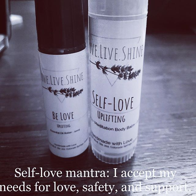 Check out our fun Self-Love EO Shimmer Stick and the Be Love EO Roller! These fun floral items are perfect V-Day gifts and can help you remember how important it is to acknowledge, accept, and get your needs met for love! Shop at loveliveshine.com #loveliveshineshop #smallbusiness #meditation #essentialoils #selflove #selfcare #coloradolocal