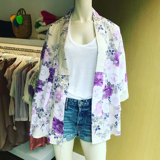 #Vintage Kimono jacket @otte west village store #limited edition one size fits all  with #denim short ready to for #summer party call 212 229 9424
