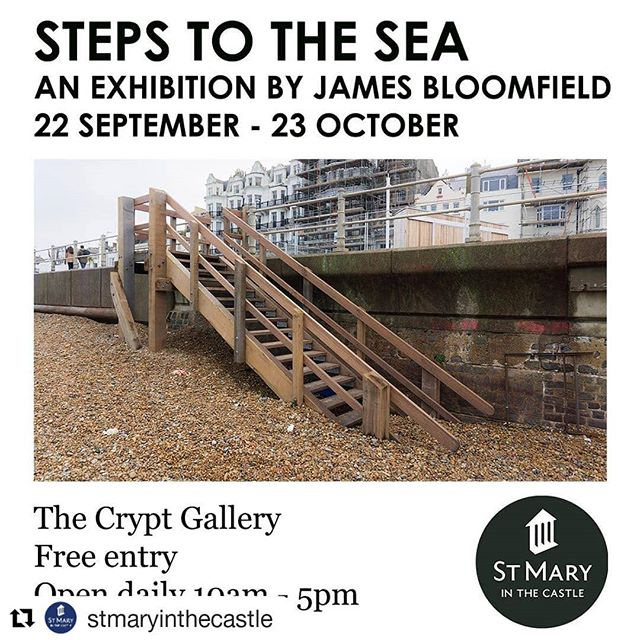 """#Repost @stmaryinthecastle (@get_repost) ・・・ St Mary in the Castle is excited that @jamesbloomfield_, a local documentary photographer, will be having an exhibition of new photographs in the Crypt Gallery. - The official announcement was made today ahead of the exhibition which will open September 22nd. - The free exhibition 'Steps to the Sea' will be on show in the Crypt Gallery from 22nd September until 23rd October. - James commented """"I'm excited to be exhibiting at St Mary in the Castle as it's a bit of a spiritual arts home for me. I've been involved with the building and team since 2016 and I'm happy to finally have produced some work to go in such a distinctive and unique space. It's a fantastic home for art between the Old Town and new town in Hastings and I think that reflects the tone of my work here too."""" - """"We're thrilled that James will be exhibiting his beautiful photographs in our Crypt Gallery."""" Lead Curator, Thom Kofoed says. """"He's been an incredible supporter of St Mary in the Castle these last few years and it felt fitting that we celebrated his work in our gallery."""" - James's project 'Steps to the Sea' was undertaken in January 2017 over two days, involving the photographic documentation of every single step and stair leading from the promenade to the seafront between Hastings' Old Town and Bexhill's De La Warr Pavilion. - James said """"Concentrating on architectural repetitions and significance of structure in our shared experience of the seaside, the piece is a long form tribute to the unsung infrastructure which links pebble to pavement. The shots are arranged in similar fashion using the same format of 35mm digital photographs of each step from the same 4 angles."""" - James's exhibition will include a free photographer's talk open to the public Thursday, September 26th in the Crypt Gallery where he will discuss his work as a documentary photographer and filmmaker, his process and his project 'Steps to the Sea.' - James has also been working on a """