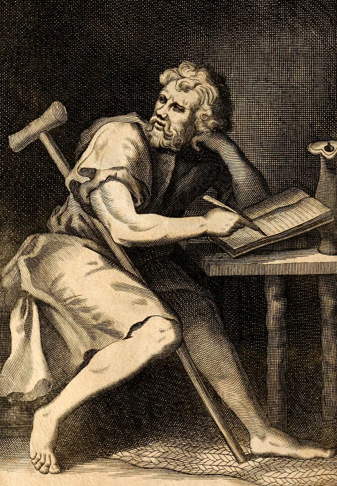 epictetus - 55–135 CE, born in Hierapolis, Turkey, died in Nicopolis, Greece. Stoic philosopher Epictetus was a slave owned by one of Nero's secretaries and obtained his freedom after Nero's death. According to Epictetus's student, Arrian, Epictetus was a powerful orator. Arrian recorded (on paper), transcribed, and compiled his discourses; no writings by Epictetus himself have ever been discovered. Epictetus distinguished between things in our power (prohairetic) and things not in our power (aprohairetic).That alone is in our power, which is our own work; and in this class are our opinions, impulses, desires, and aversions. What, on the contrary, is not in our power, are our bodies, possessions, glory, and power. Any delusion on this point leads to the greatest errors, misfortunes, and troubles, and to the slavery of the soul.