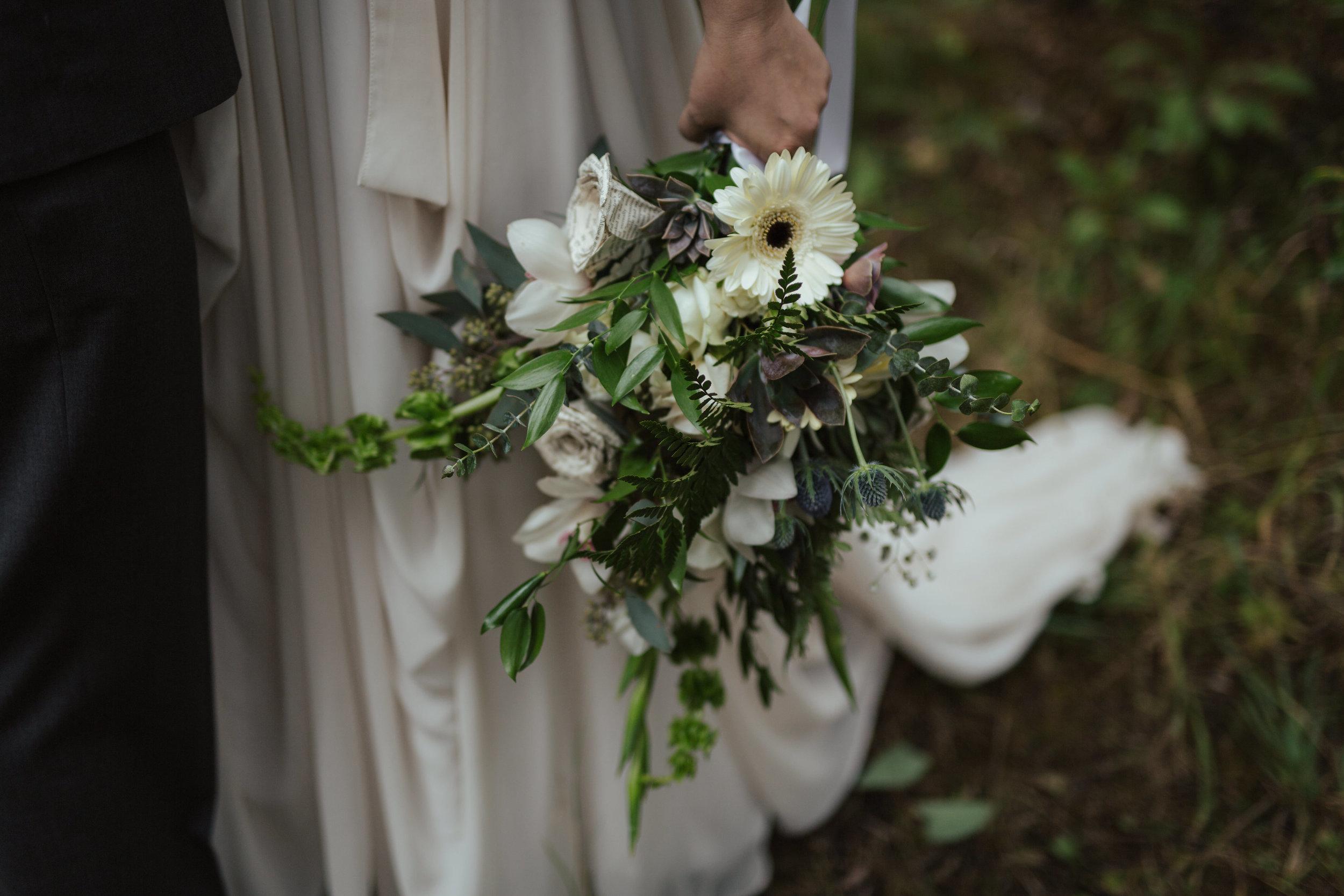 Calgary Fall Wedding Greenery Bridal Bouquet