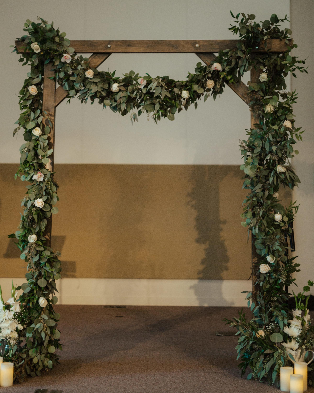 Calgary Fall Wedding Greenery Arch