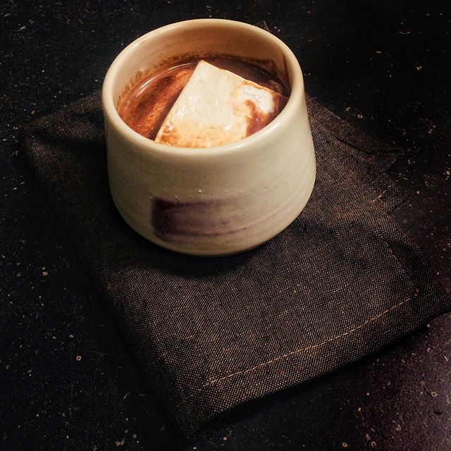 afternoon spent making homemade marshmallows in lots of flavours - had to try one with some hot cocoa