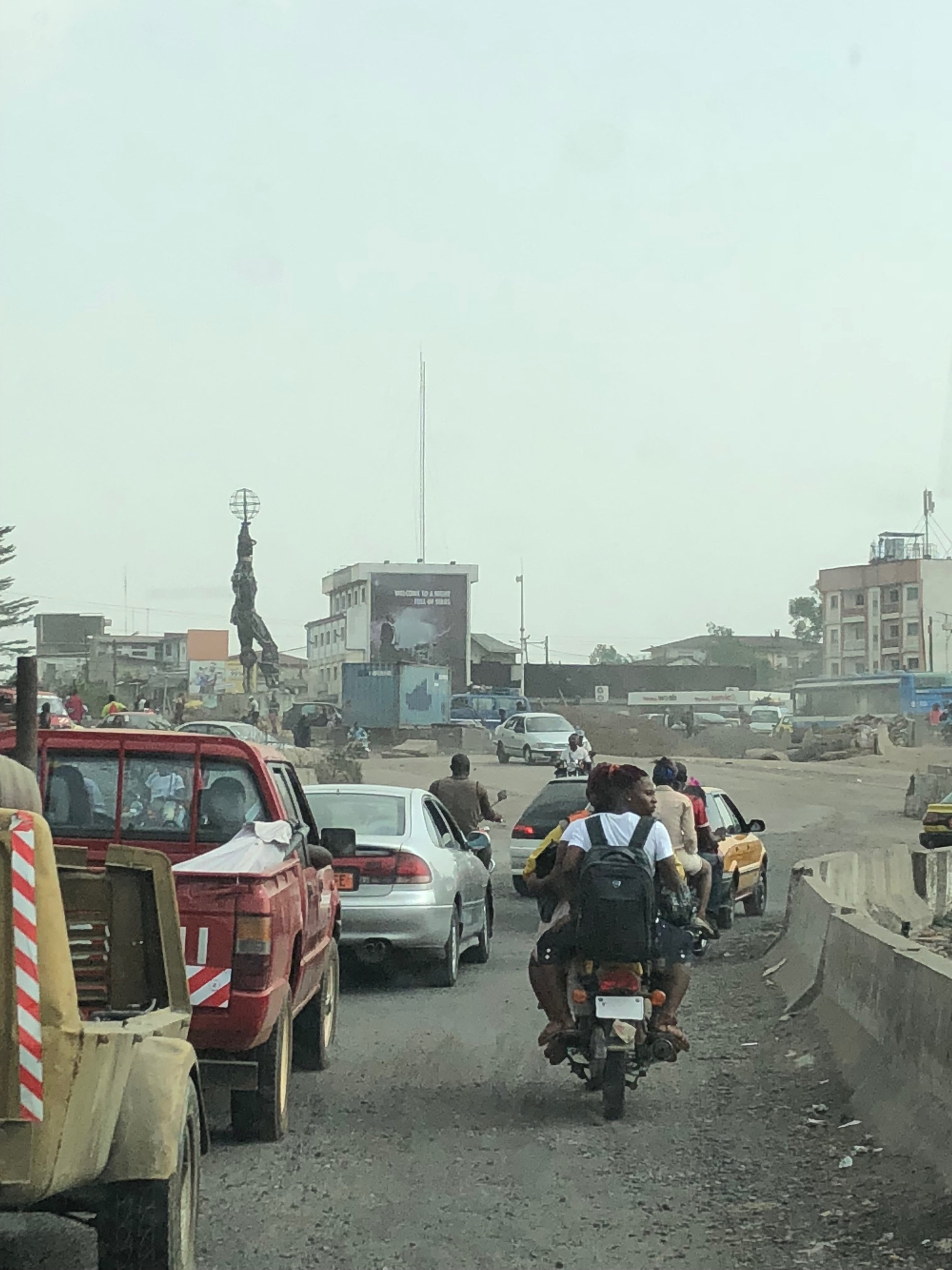 New Bonaberi Bridge, Douala. It's still under construction and traffic is horrendous during peak hours and on weekends.