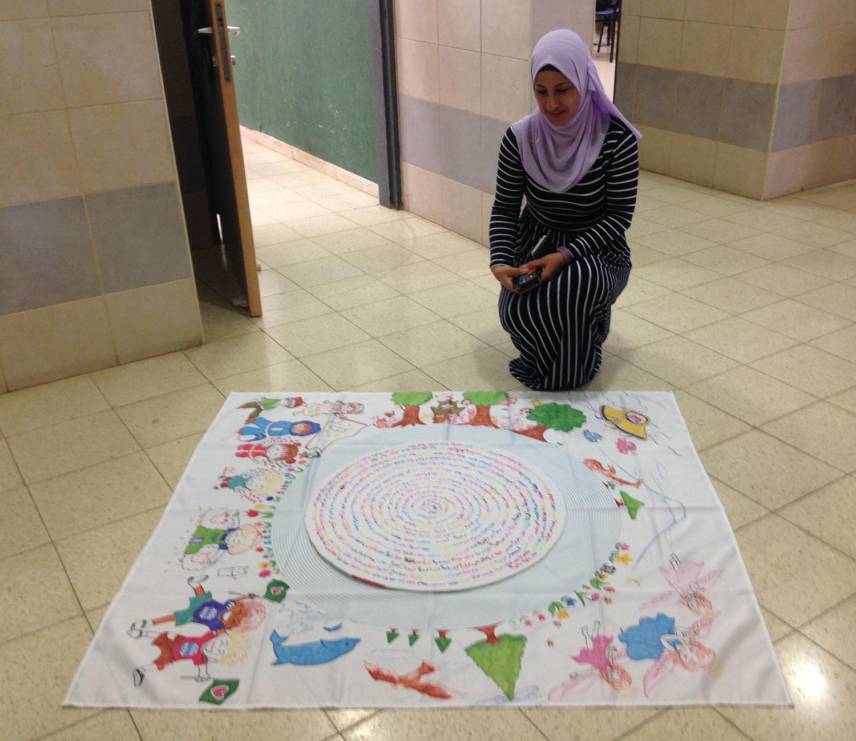 Tur'an Elementary School Teacher with her Mandala