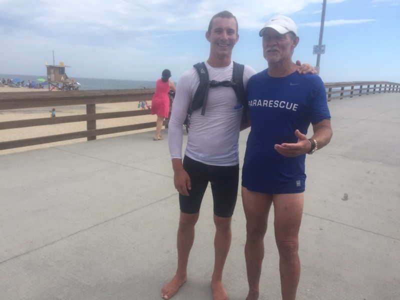 Quest: 23 mile run-swim-Run -Swim: 9 hours Pic with David Coy who is a Pararescue trainee