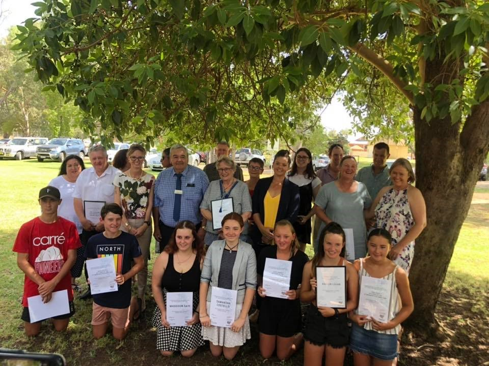 Above: Coolamon Shire Council Australia Day Award Nominees, pictured with Kath Koschel, John Seymour OAM and Steph Cooke MP