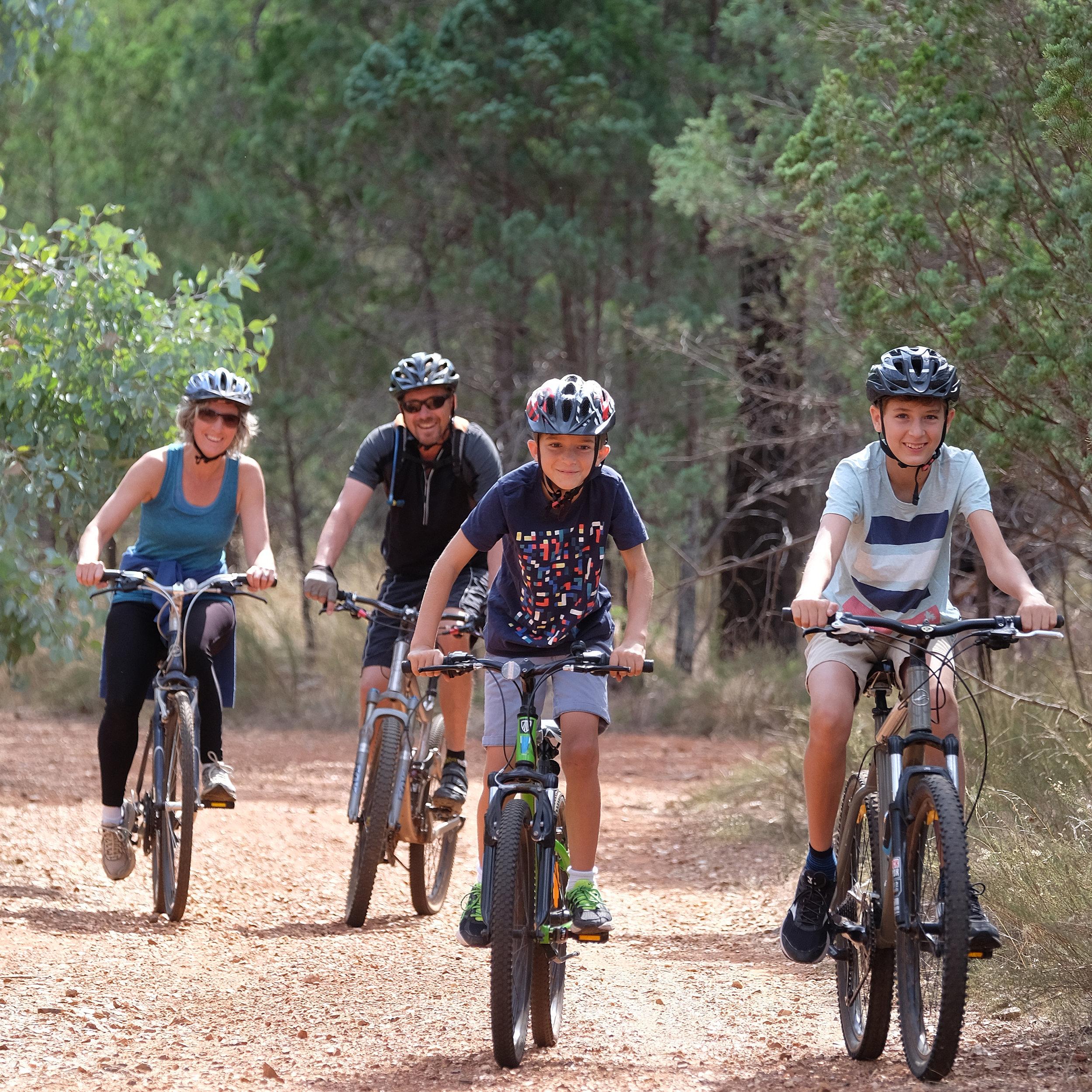 The De Hann family enjoying Kindra Park Forrest Tracks.