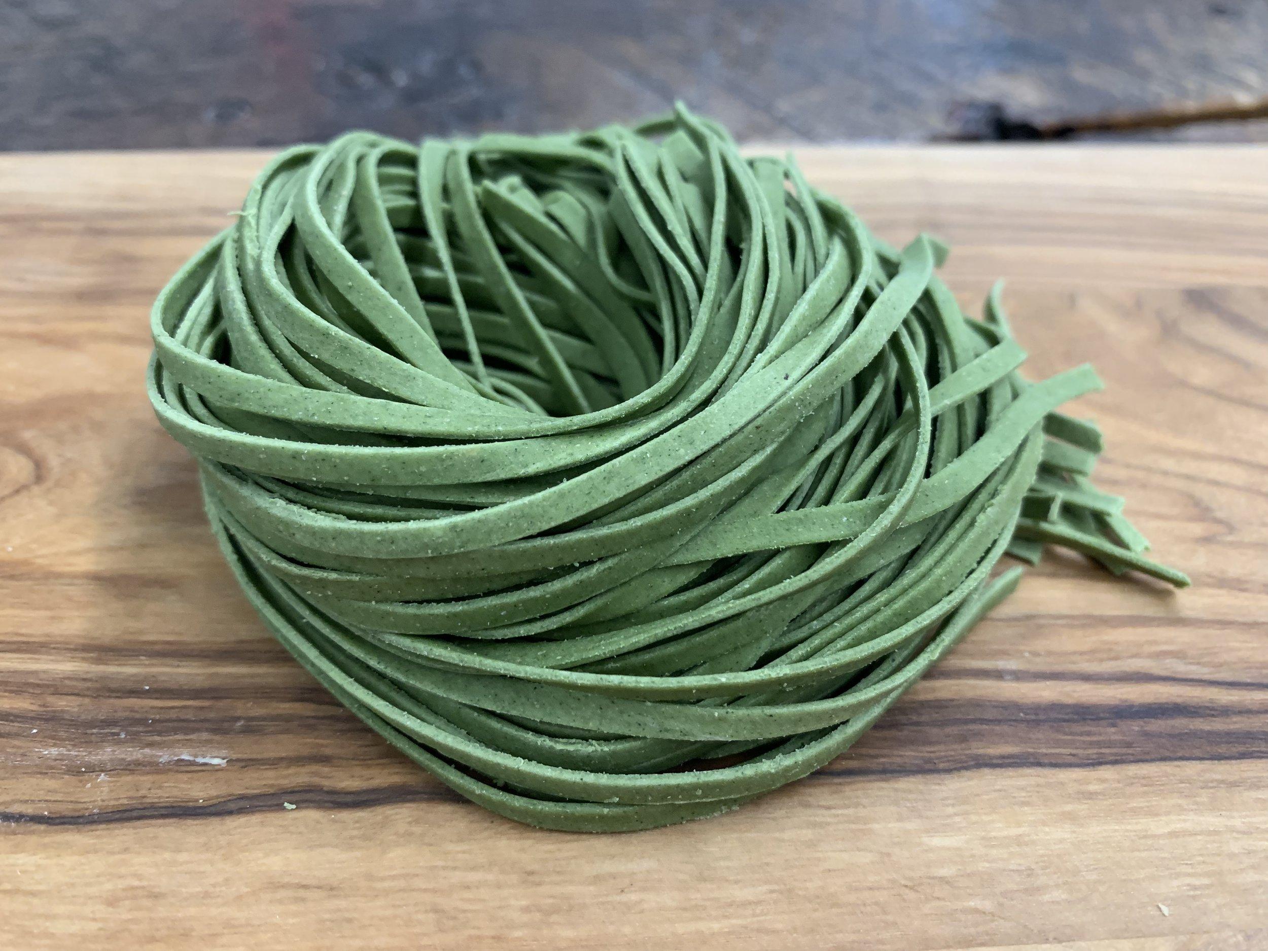 Spinach Linguine