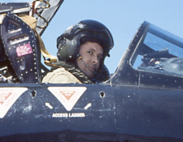 About to film from an ex-RAF Lightning jet, South Africa 2001