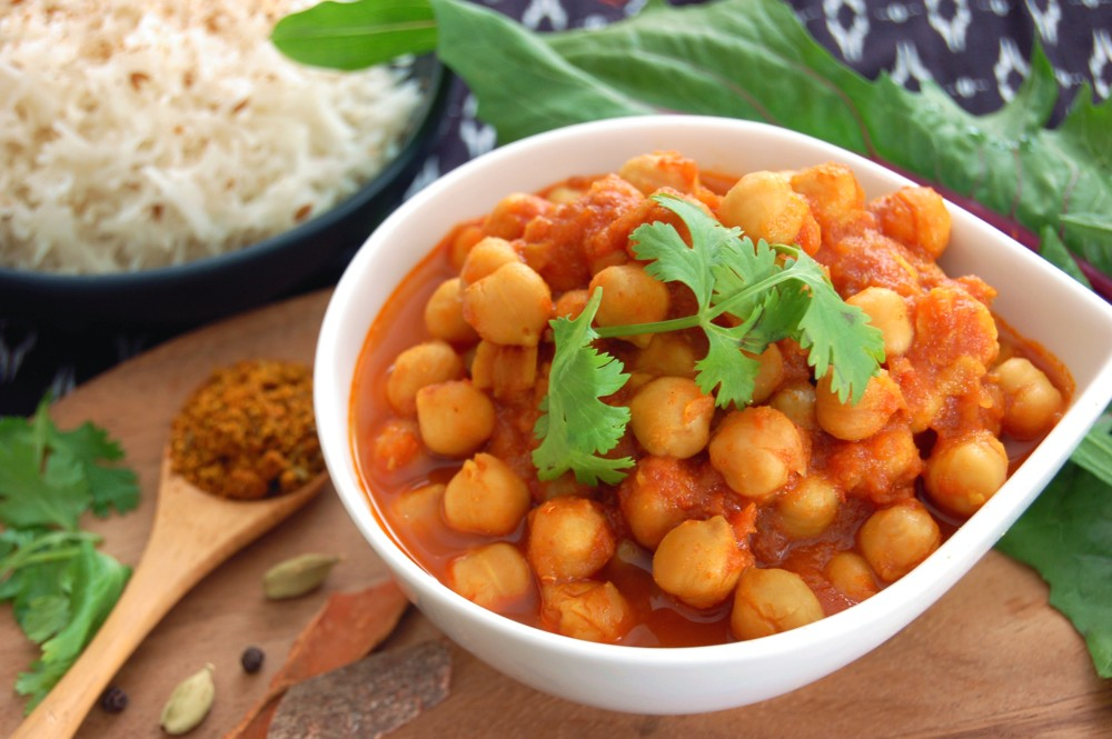 CHANNA MASALA - North Indian-Style Chick Pea Curry - {Made with Arvinda's Channa Masala}A restaurant staple and a