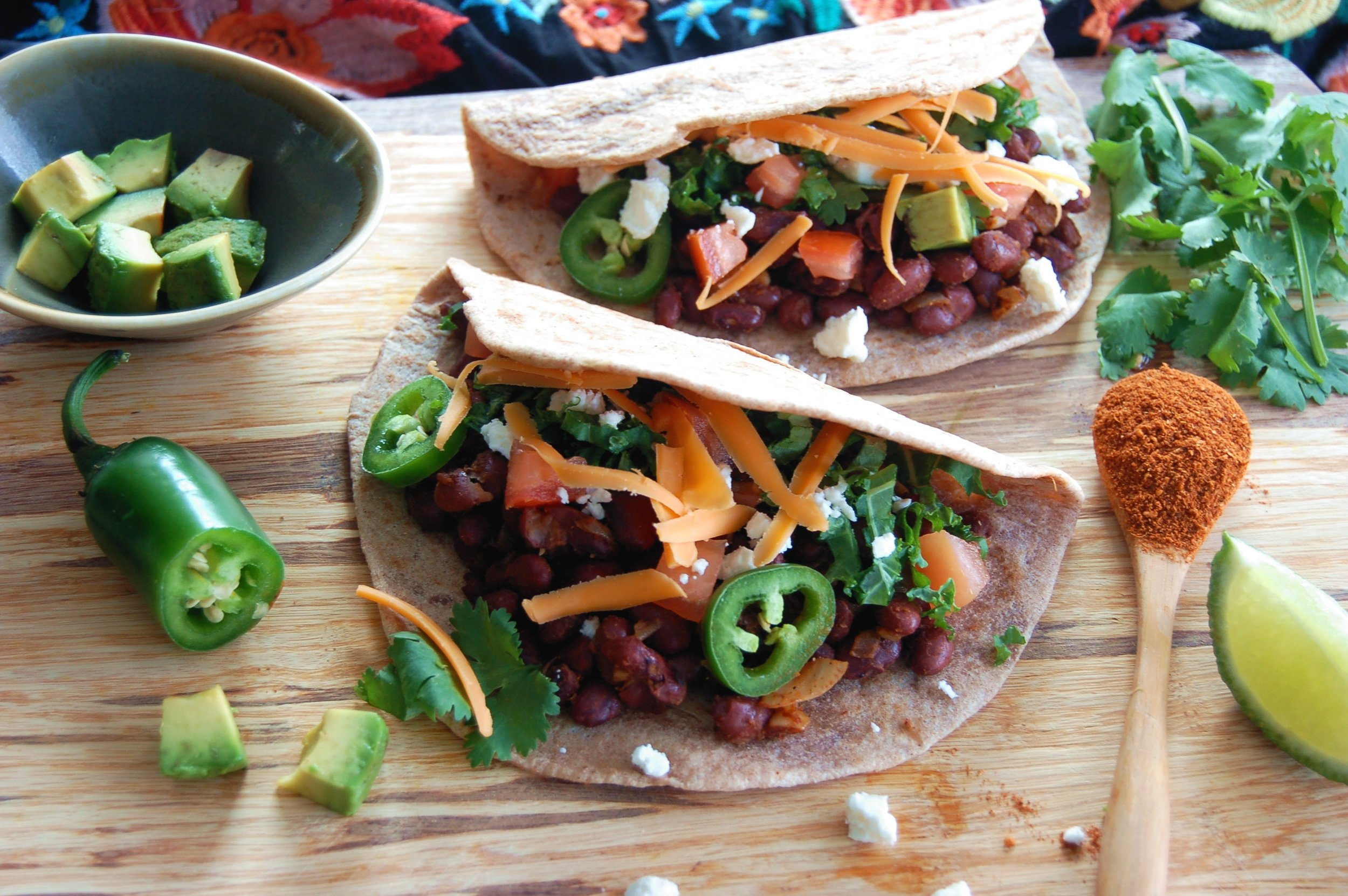 CHIPOTLE SPICED BLACK BEAN TACOS - {Made with Arvinda's Chipotle Taco}
