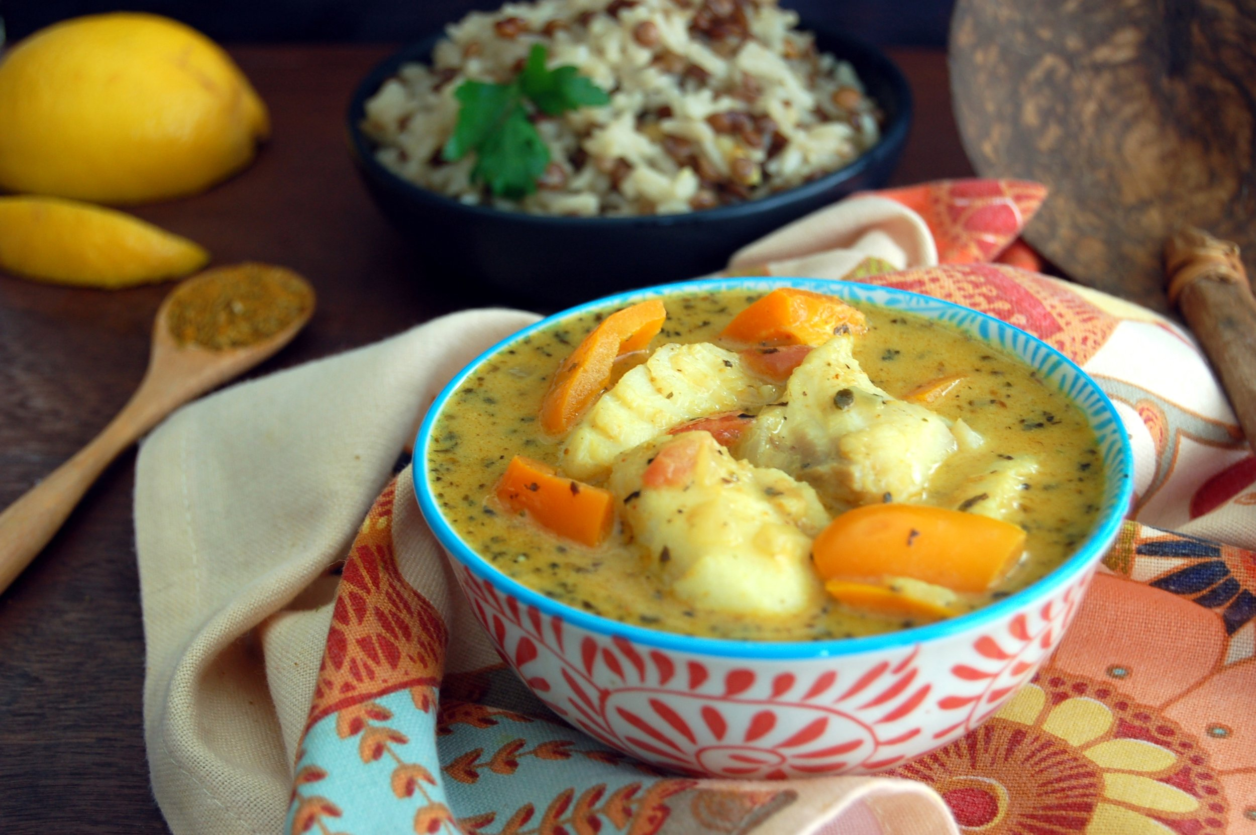 BRAZILIAN COCONUT FISH CURRY - {Made with Arvinda's Brazilian Beach}
