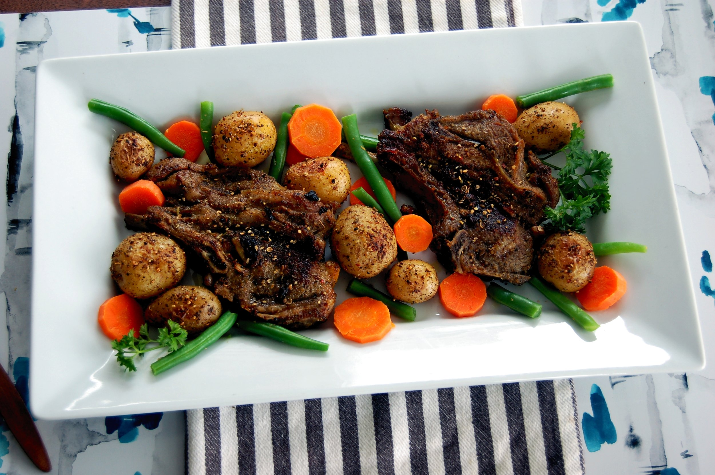 MONTREAL SPICED LAMB CHOPS - {Made with Arvinda's Montreal Grilling Spice}
