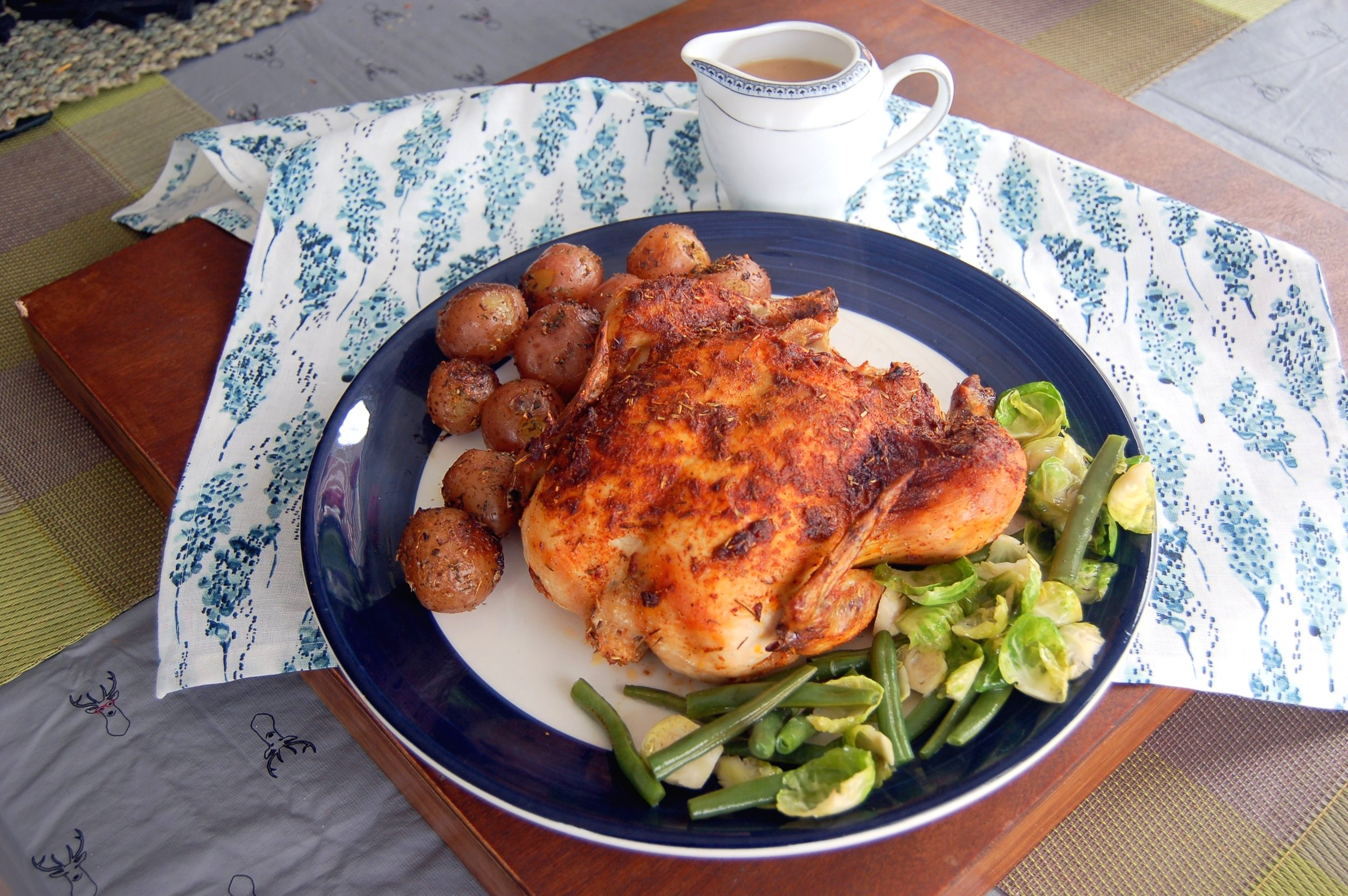 WHOLE ROASTED CHICKEN - {Made with Arvinda's French Rotisserie}