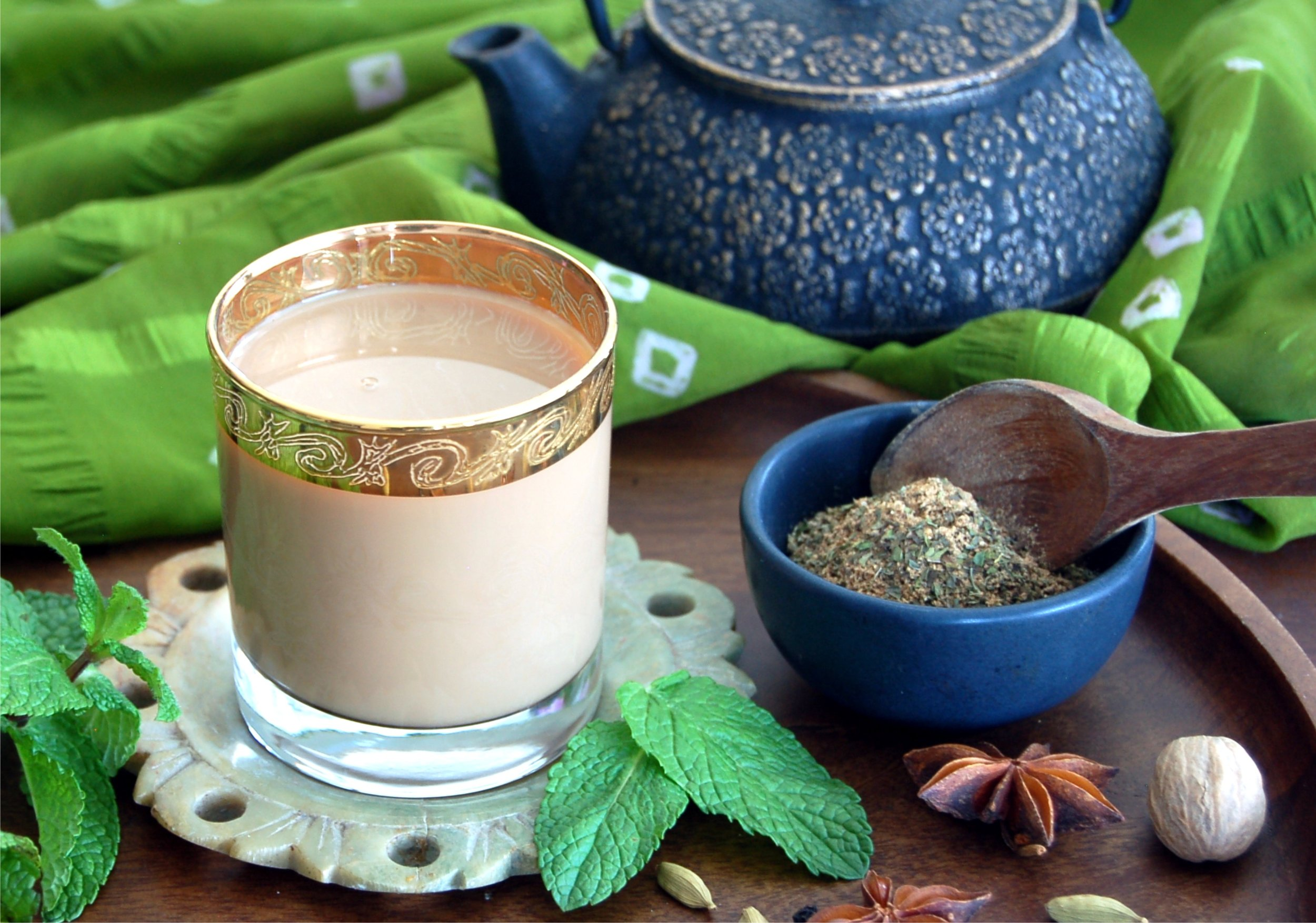 Authentic Minted Masala Chai