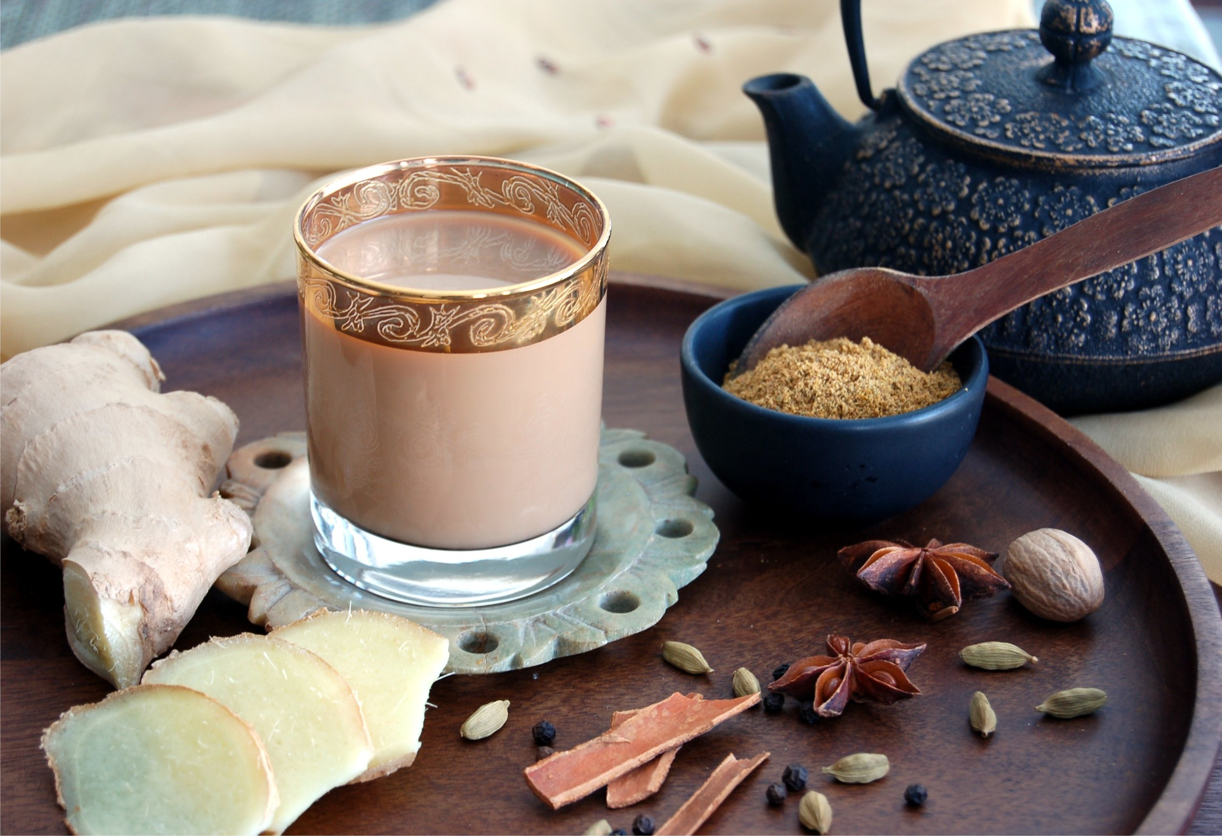 Authentic Gingery Masala Chai
