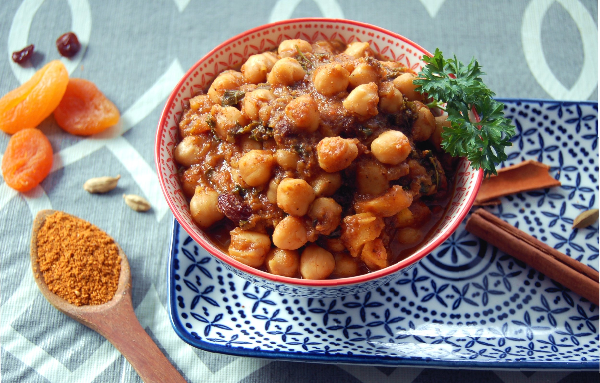 KALE & CHICK PEA TAGINE - {Made with Arvinda's Ras El Hanout}