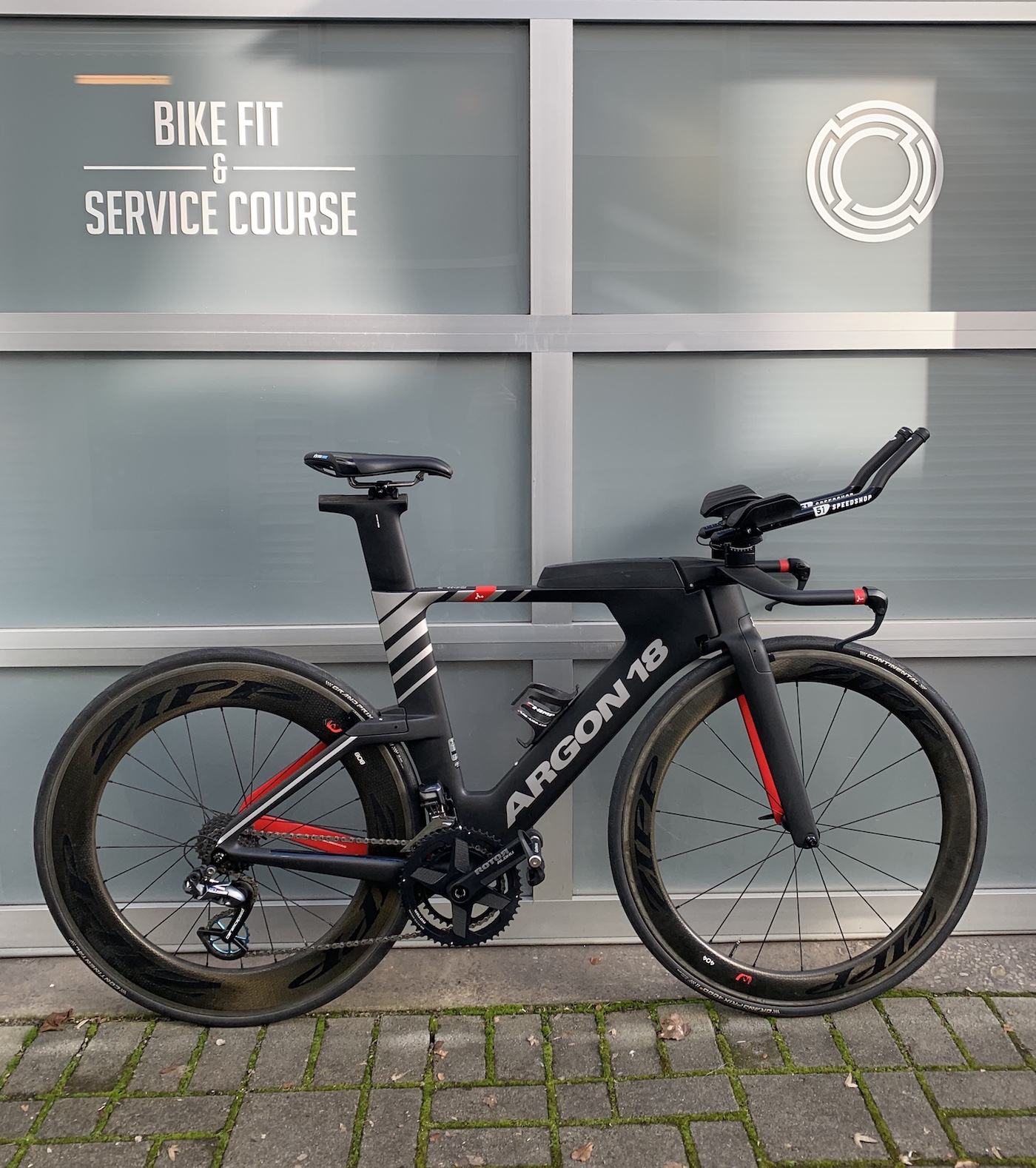 The Argon 18 E-119, with  51 Speedshop Ultimate Extensions