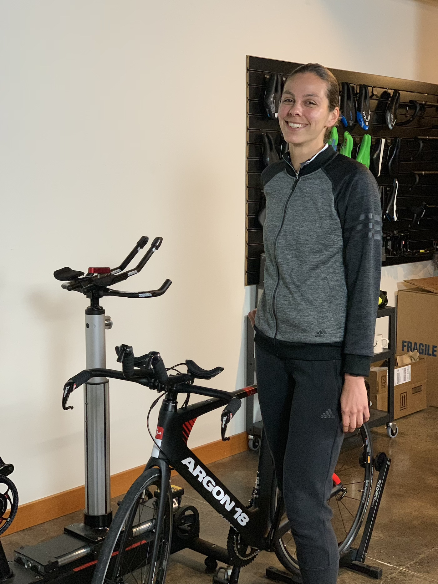 Our happy customer with her Argon 18 E-117