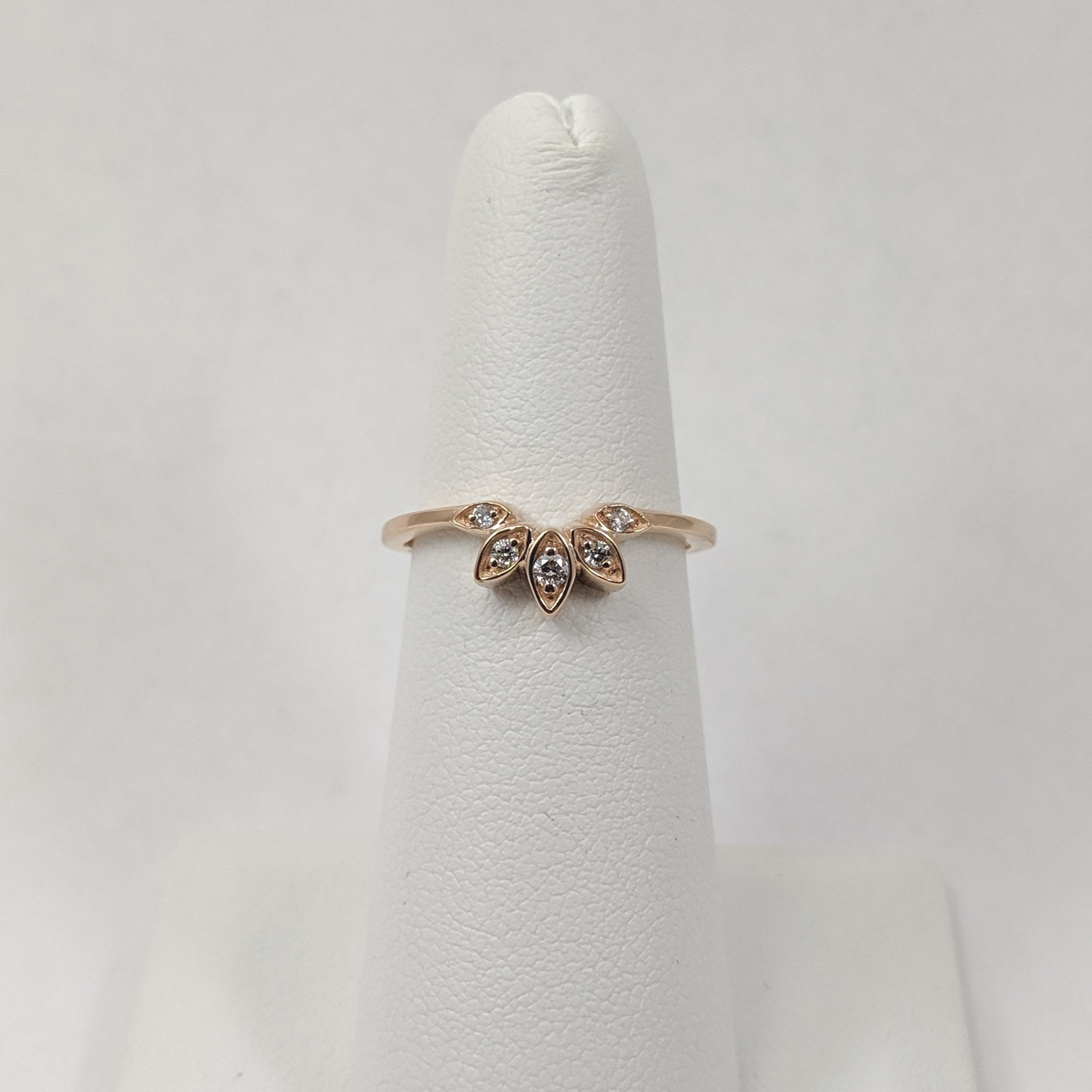 Rose Gold Wedding Band With Recycled Diamonds