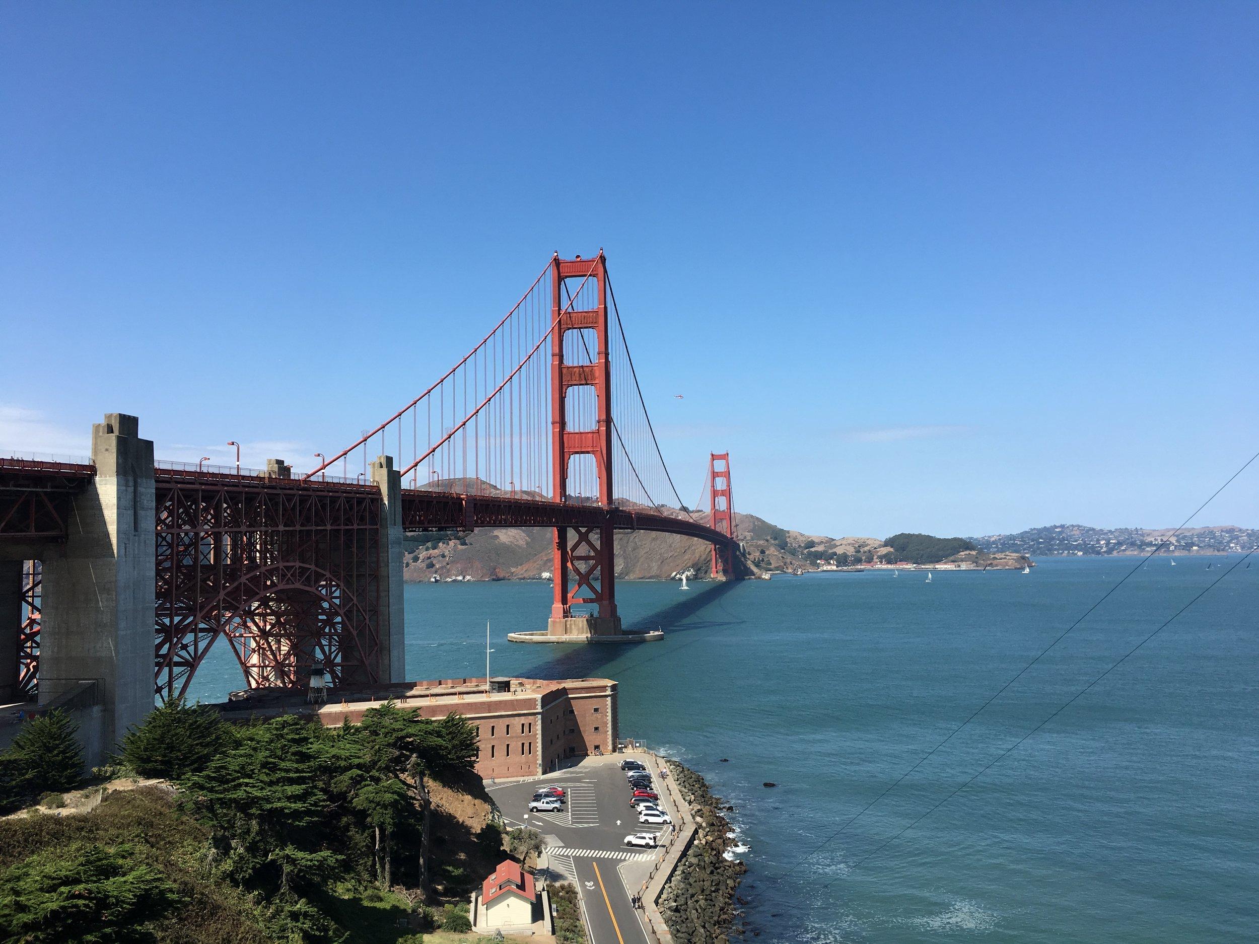 Bike path to the Golden Gate Bridge