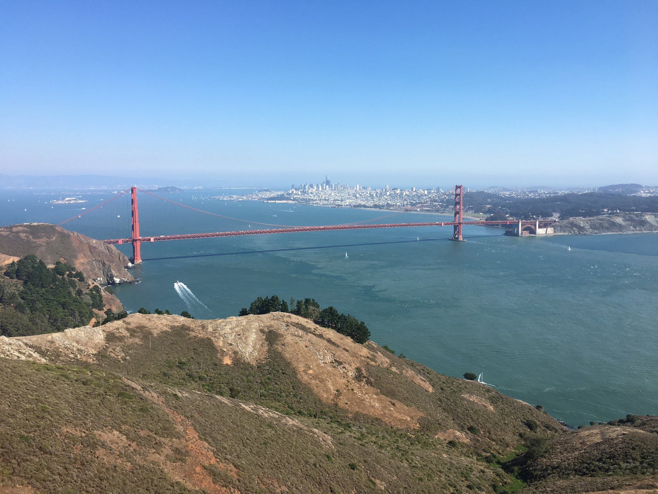 Scenic view from Marin Headlands
